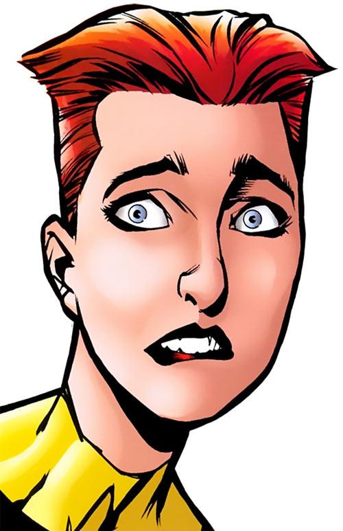 Wolfsbane (New Mutants) (Marvel Comics) (Earliest) worried face closeup