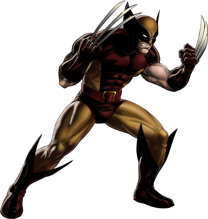 Wolverine's tan and brown costume