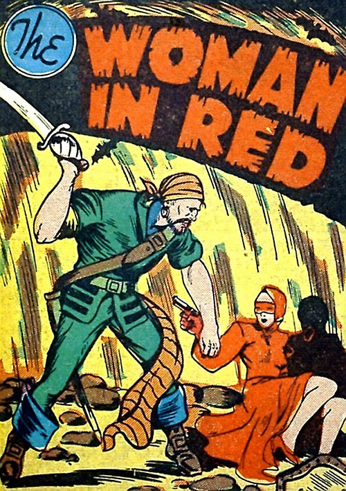 Woman in Red (Golden Age Comics) vs. a pirate
