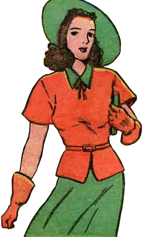 Woman in Red (Golden Age Comics) as Peggy Allen