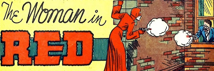 The Woman in Red (Peggy Allen) in a gunfight
