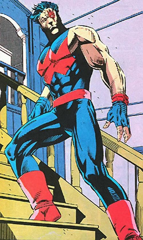Wonder Man (Marvel Comics) with an eye glowing