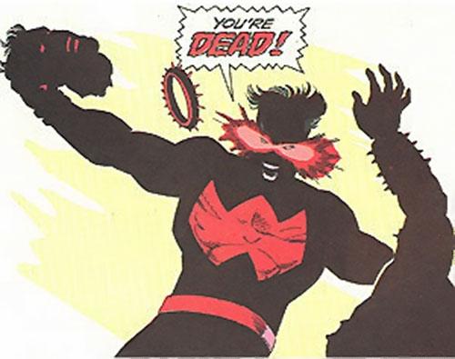 Wonder Man (Marvel Comics) beheading a doppelganger