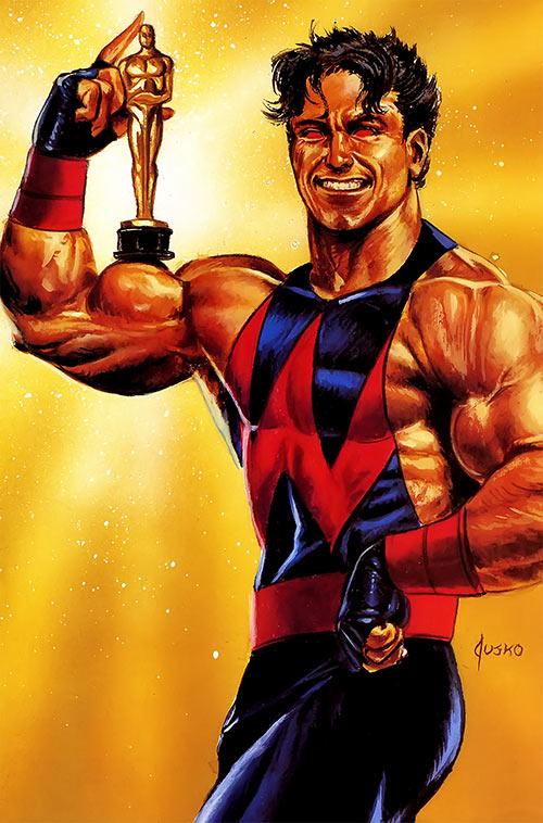 Wonder Man (Marvel Comics) (Avengers) Jusko masterpieces painting - Oscar statuette