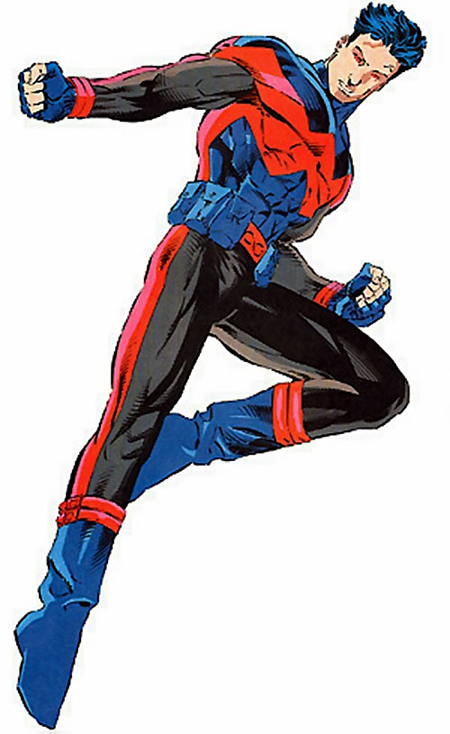 Wonder Man of the Avengers (Marvel Comics) late during his 1990s solo series