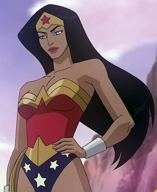 Wonder woman animated movie version kerri russell - Superman wonder woman cartoon ...