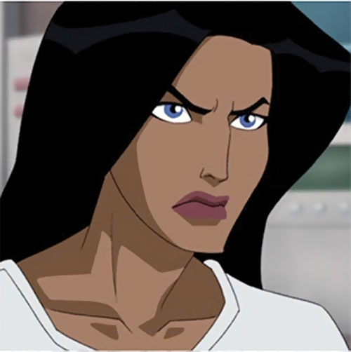 Wonder Woman (2009 animated movie version) looking determined