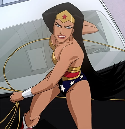 Wonder Woman (2009 animated movie version) about to use her lasso