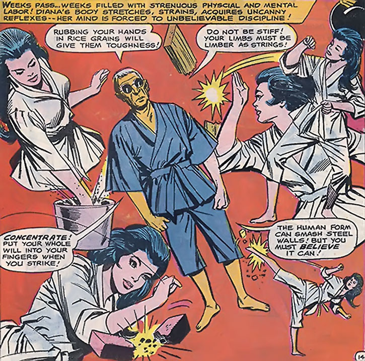 Wonder Woman 1960s karate training montage