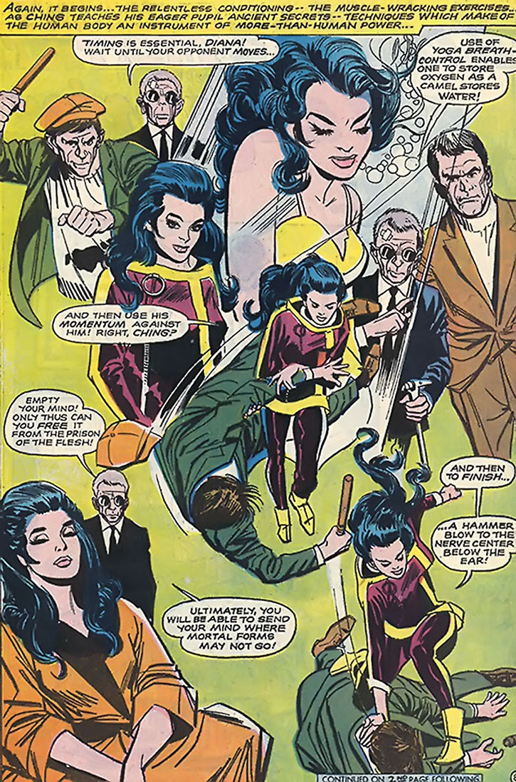 Wonder Woman 1960s karate splash page