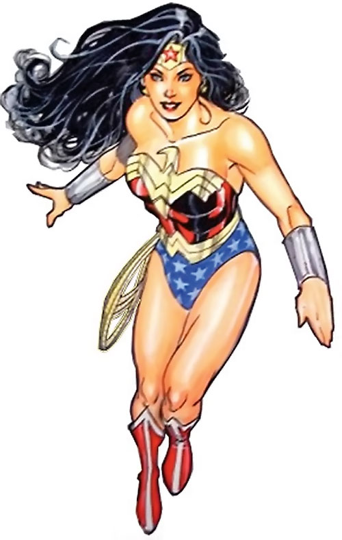 Wonder Woman (DC Comics) (Gail Simone era) hovering Lopresti color sketch