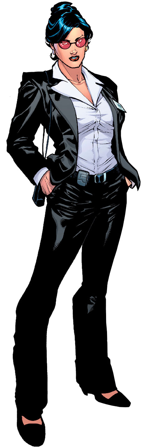 Wonder Woman (DC Comics) (Gail Simone era) in a black suit