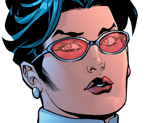 Wonder Woman (DC Comics) (Gail Simone era) as Diana Prince with her red glasses