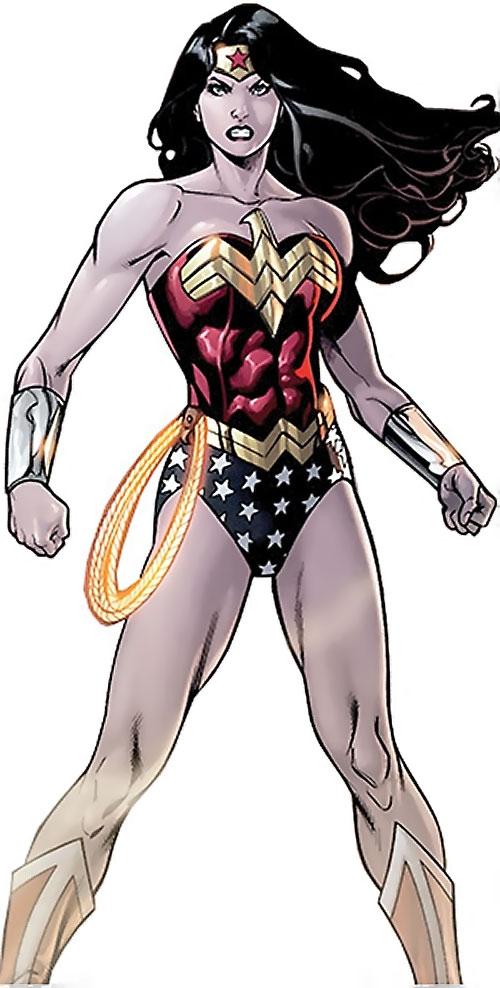 Wonder Woman (DC Comics) (Gail Simone era) standing tough