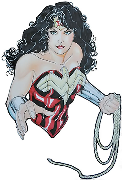 Wonder Woman (DC Comics) (Gail Simone era) Lopresti color sketch with lasso