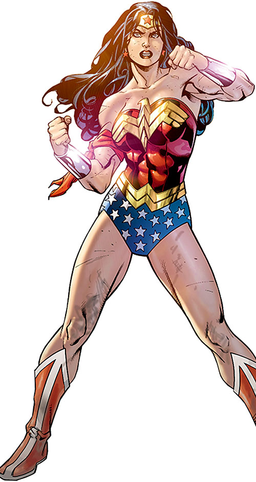 Wonder Woman (DC Comics) (Gail Simone era) standing in battle