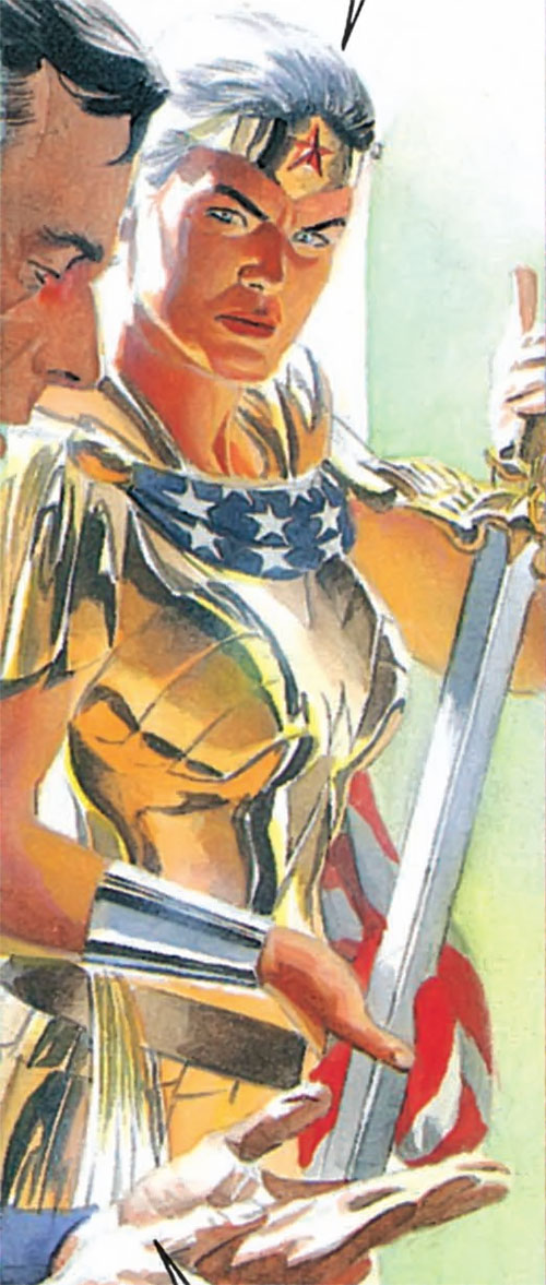 Wonder Woman (Kingdom Come version) and her sword