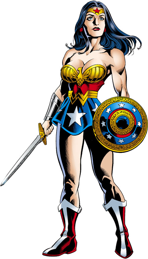 Wonder Woman (DC Comics) (Queen Hippolyta) JSA with sword and shield