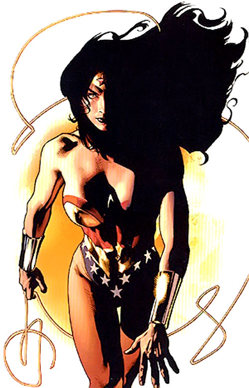 Wonder Woman (DC Comics) in shadows