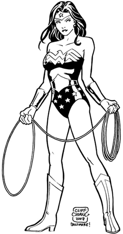 Wonder Woman (DC Comics) posing by Cliff Chiang
