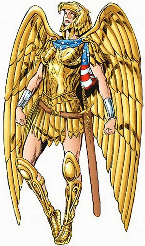 Wonder Woman (DC Comics) in golden eagle armor