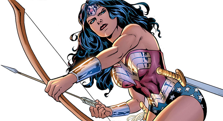 Wonder Woman with a bow