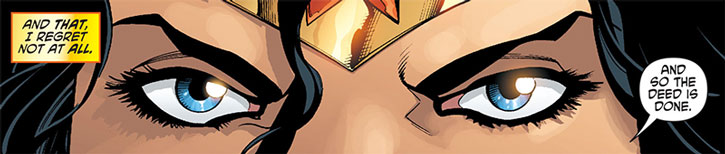 Wonder Woman eyes closeup