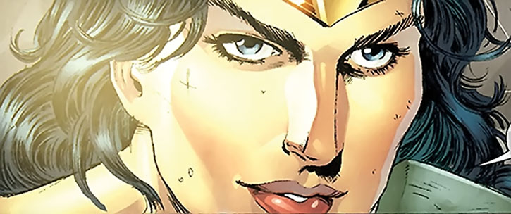Wonder Woman smirking
