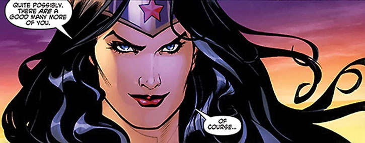 Wonder Woman being sarcastic