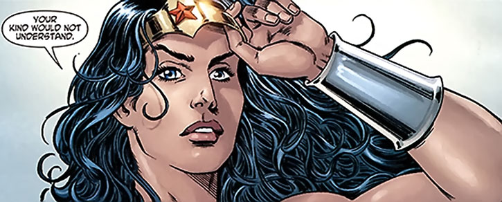 Wonder Woman takes off her tiara