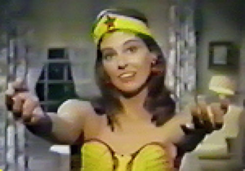 Wonder Woman (Ellie Wood Walker in the 1967 pilot episode) reaching out