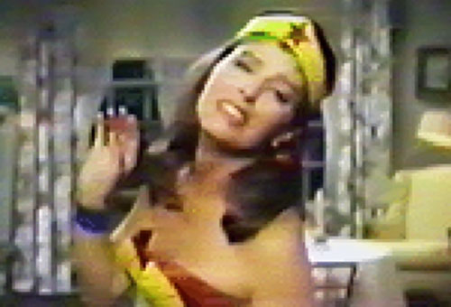 Wonder Woman (Ellie Wood Walker in the 1967 pilot episode) posing