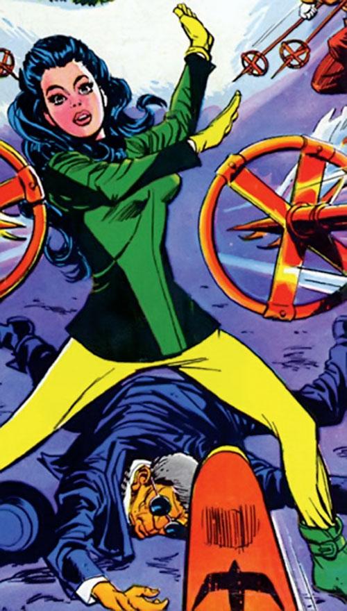 Wonder Woman Diana Prince (Karate mod era) (DC Comics) in skiing clothes