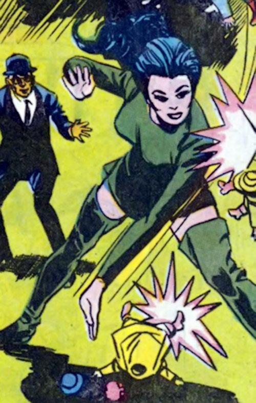 Wonder Woman Diana Prince (Karate mod era) (DC Comics) vs. flying dolls