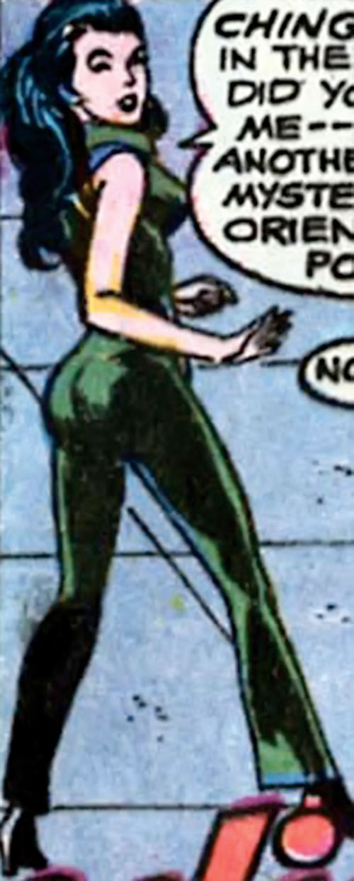 Wonder Woman Diana Prince (Karate mod era) (DC Comics) in the dark green catsuit
