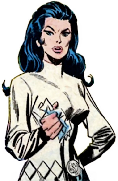Wonder Woman Diana Prince (Karate mod era) (DC Comics) in a white tunic and lozenge belt