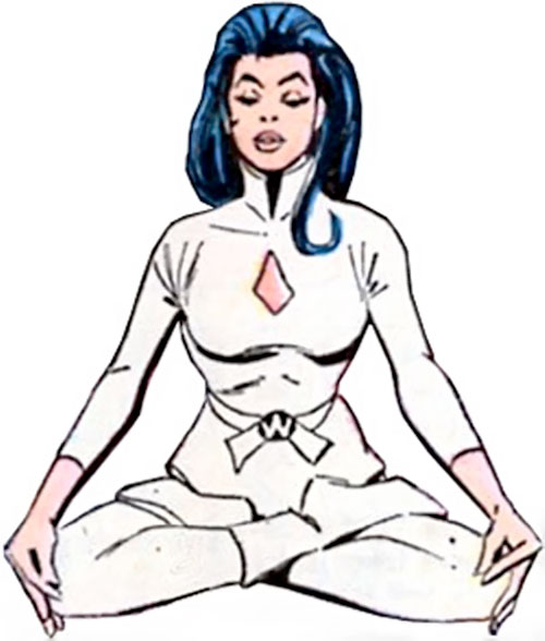 Wonder Woman Diana Prince (Karate mod era) (DC Comics) meditating