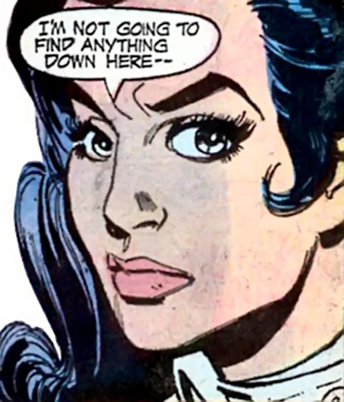 Wonder Woman Diana Prince (Karate mod era) (DC Comics) face closeup closed expression