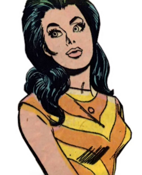 Wonder Woman Diana Prince (Karate mod era) (DC Comics) in a yellow and orange dress