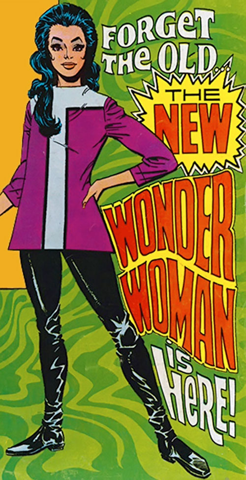 Wonder Woman Diana Prince (Karate mod era) (DC Comics) psychedelic motif cover