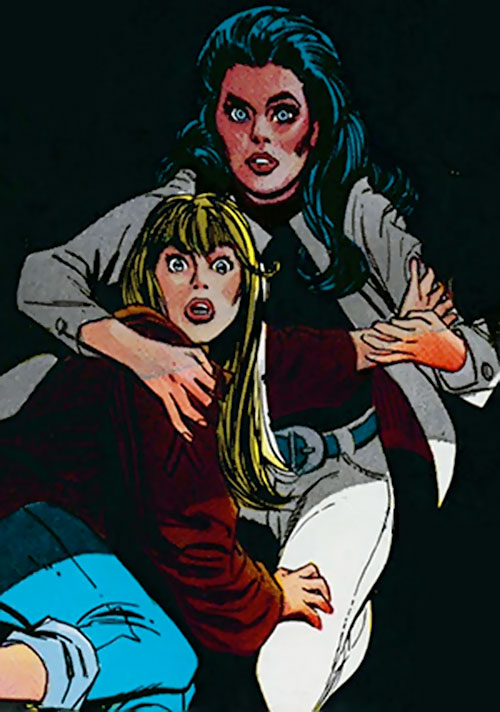 Wonder Woman Diana Prince (Karate mod era) (DC Comics) in white jeans and white denim vest