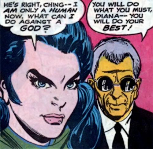 Wonder Woman Diana Prince (Karate mod era) (DC Comics) and I-Ching
