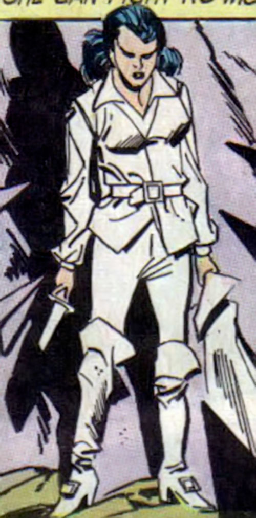 Wonder Woman Diana Prince (Karate mod era) (DC Comics) in white swashbuckling clothes