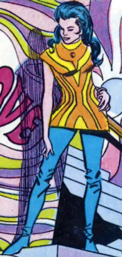 Wonder Woman Diana Prince (Karate mod era) (DC Comics) in colorful 1960s clothing