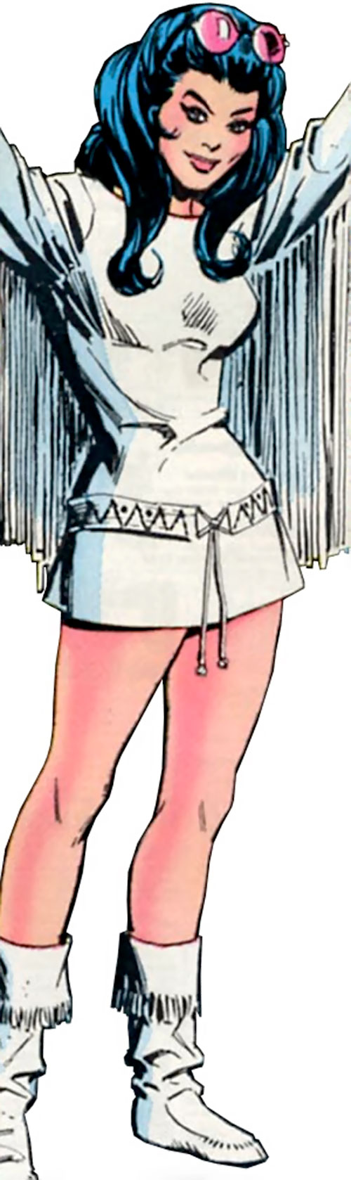 Wonder Woman Diana Prince (Karate mod era) (DC Comics) in a 1960s white minidress