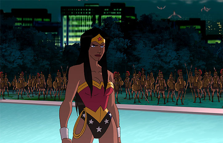 Wonder Woman and Amazon soldiers (animated movie)