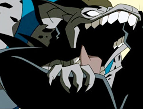 Woof of the Jokerz (Batman Beyond enemy) maw closeup