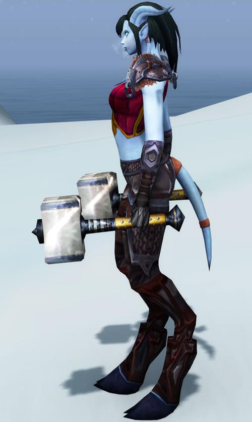 World of Warcraft - Draenei shaman - Ravenstill - twin hammers