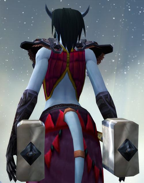 World of Warcraft - Draenei shaman - Ravenstill - tail and back