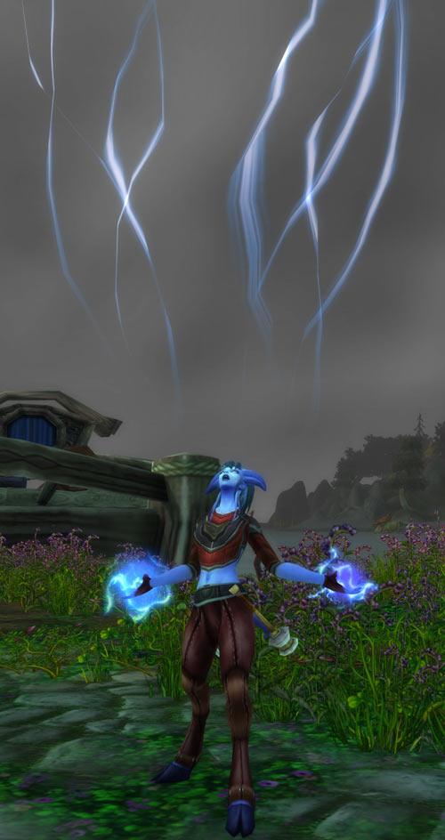 World of Warcraft - Draenei shaman - Ravenstill - drawing from the sky